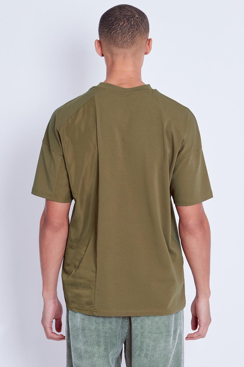 Khaki T-Shirt With Nylon Insert