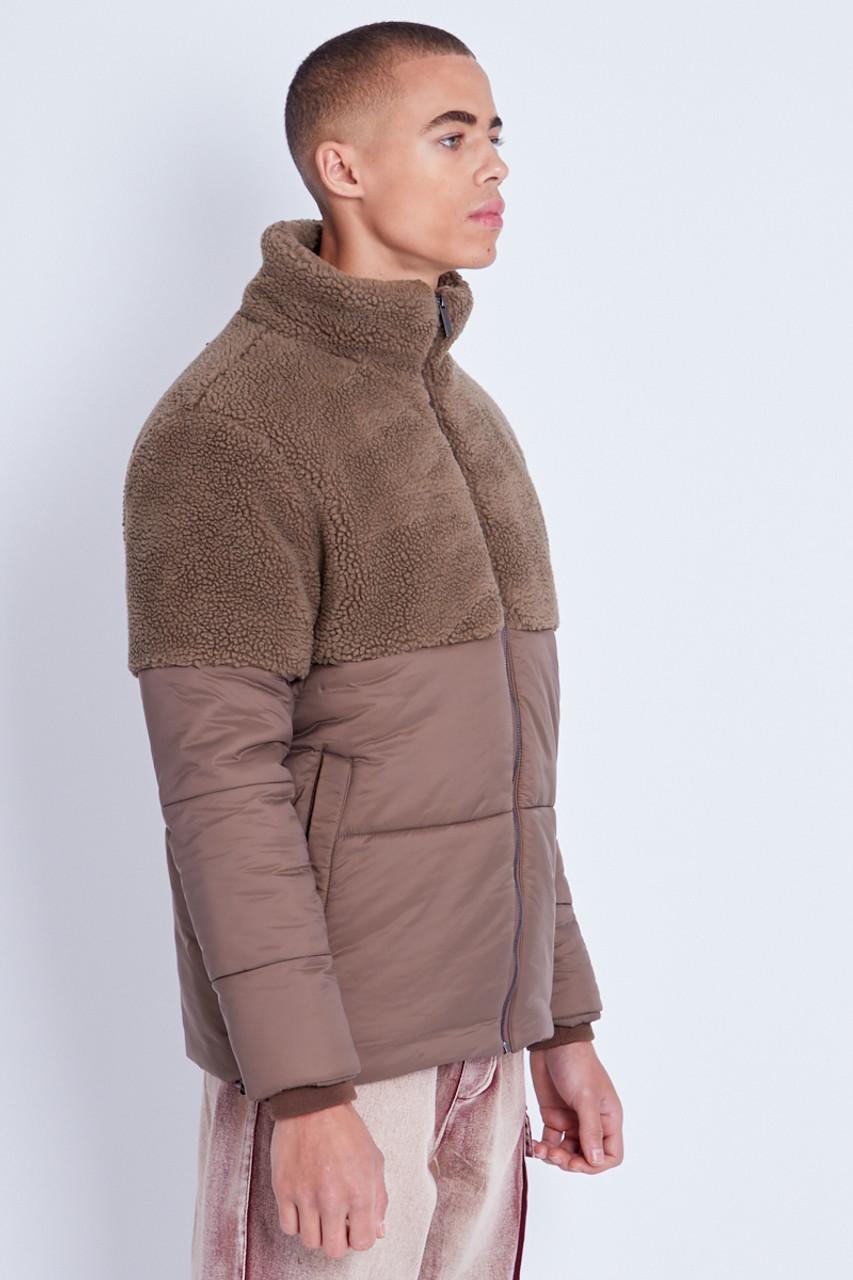 Shearling Mix Puffer Jacket