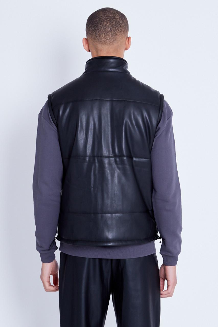 Vegan Leather Padded Gilet