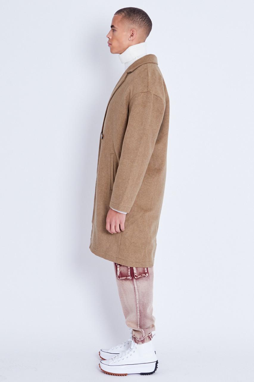 Oversized Brushed Wool Overcoat