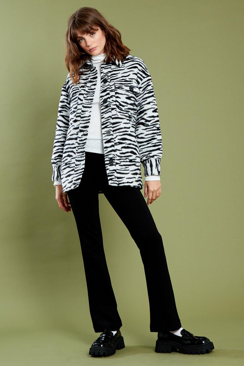 Zadie Zebra Shacket - Black & White