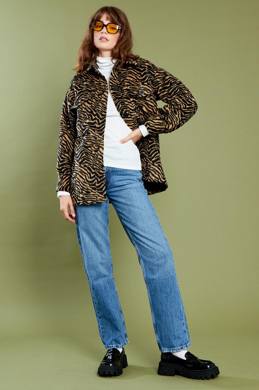 Maisie Zebra Shacket - Brown