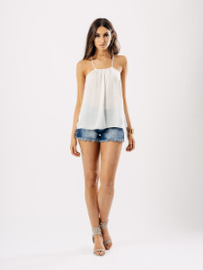 White Satin Cami Top