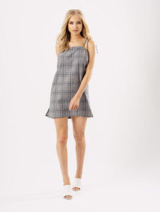 Gingham Check Print Summer Mini Dress
