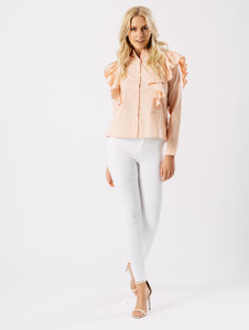 Blush Frill Ruffle Shirt