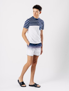 Navy Blue Dip Dye Swim Shorts