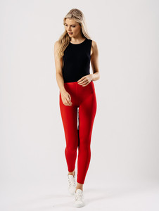 Jersey leggings in Red