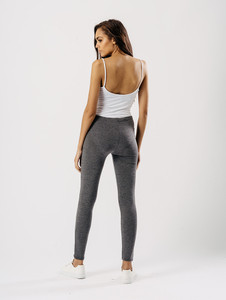 Jersey leggings in Charcoal