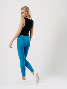 Jersey leggings in Turquoise