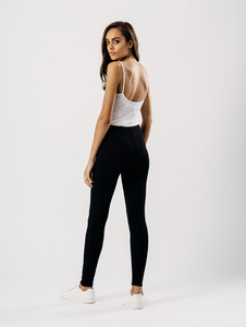 Jersey leggings in Black