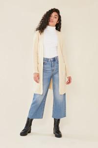 Cream Oversized Chunky Knitted Cardigan