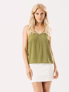Cami Top With Front Zip