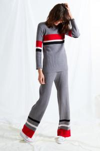 Colour Block Stripe Pants