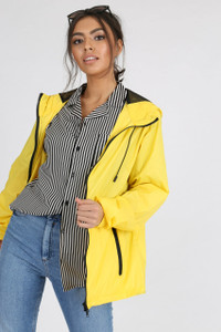 Yellow Waterproof Hooded Rain Jacket
