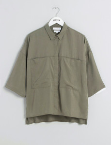 Olive Patch Pocket Tencel Shirt