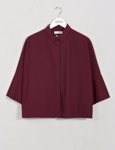Burgundy Parachute Boxy Shirt