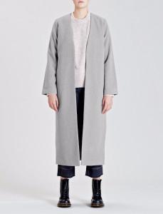 Grey Dusk Edge to Edge Maxi Overcoat