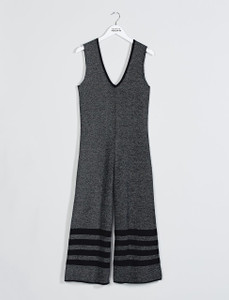 Charcoal grey Knitted Retrograde Jumpsuit