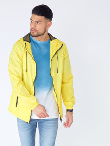 Yellow Light Weight Hooded Windbreaker