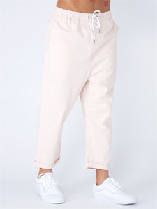 Pink Loose Cropped Pull on Chino