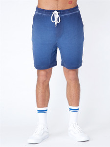 Navy Acid Wash Jersey Shorts