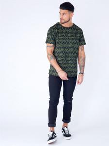 Khaki Short Sleeve Printed Tee