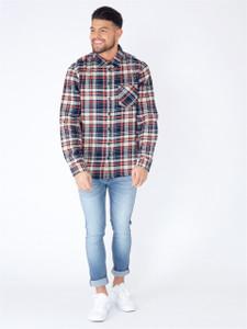 Navy Check Full Sleeve Cotton Shirt