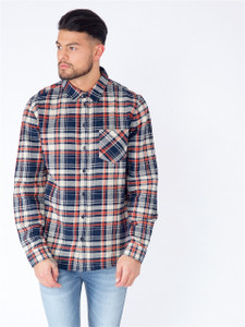 Navy Check Full Sleeve Cotton Shirt