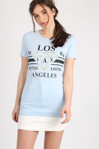 Blue Los Angeles Slogan Tee