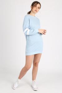 Blue Sports Stripe Jumper Dress