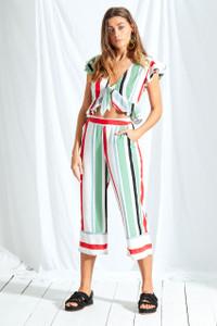 Rio Stripe Wide Leg Culottes