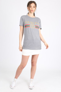 Grey Guilty Slogan Tee