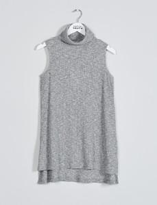 Grey Zephyra Neck Tunic
