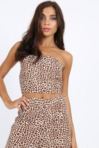 Leopard Print Bandeau Crop
