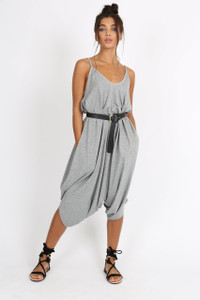 Grey Harem Style Jumpsuit