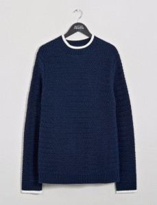 Navy Riverfront Knitted Sweatshirt