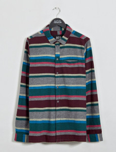 Arcot Multi Stripe Straight Hem Shirt