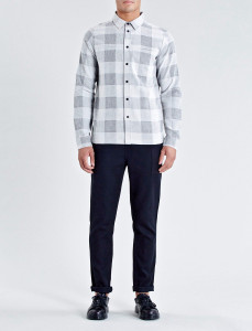 Grey Brentwood Check Straight Hem Shirt
