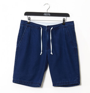 Indigo Drawcord Chino Short