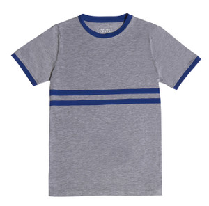 Grey Stripe Contrast T
