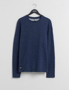 Indigo Belmont L/Sleeve Jacquard Top With Crossover Neck