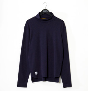 Navy Hopton  Spacedye Turtle Neck Top