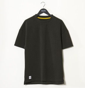 Forrest Green Stow Dropped Shoulder Jacquard Tee