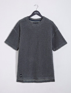 Charcoal Falcone Dropped Shoulder Polar Fleece Tee