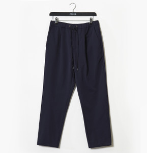 Navy Nightwing Smart Pant In Plated Fabric Drawcord Waistband
