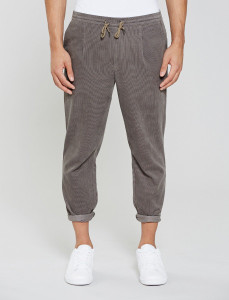 Grey Astbury Cord Pant With Drawcord Waistband
