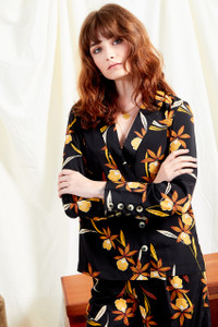 Margot Floral Asymmetric Button Shirt