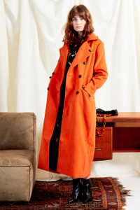 Orange Cocoon Maxi Coat