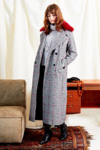 Heritage Check Oversized Maxi Coat