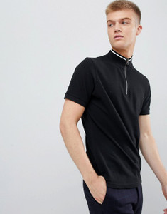 Funel Neck Zip Up Collar Polo